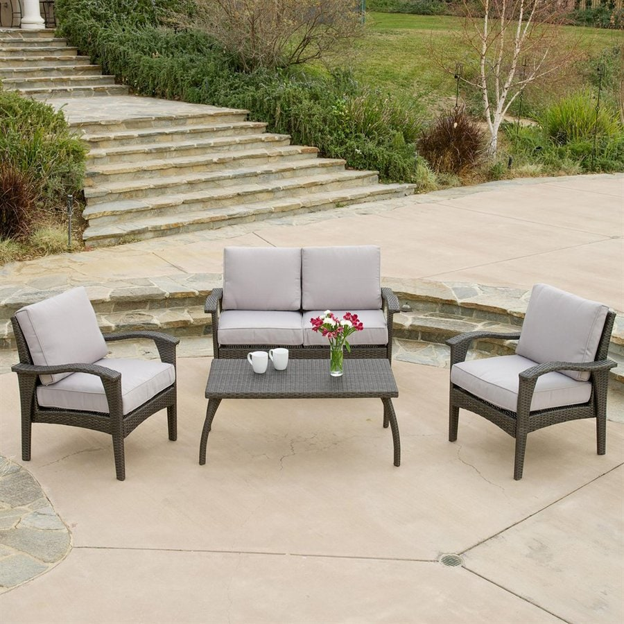 Shop Best Selling Home Decor Honolulu 4 Piece Wicker Patio Conversation Set At