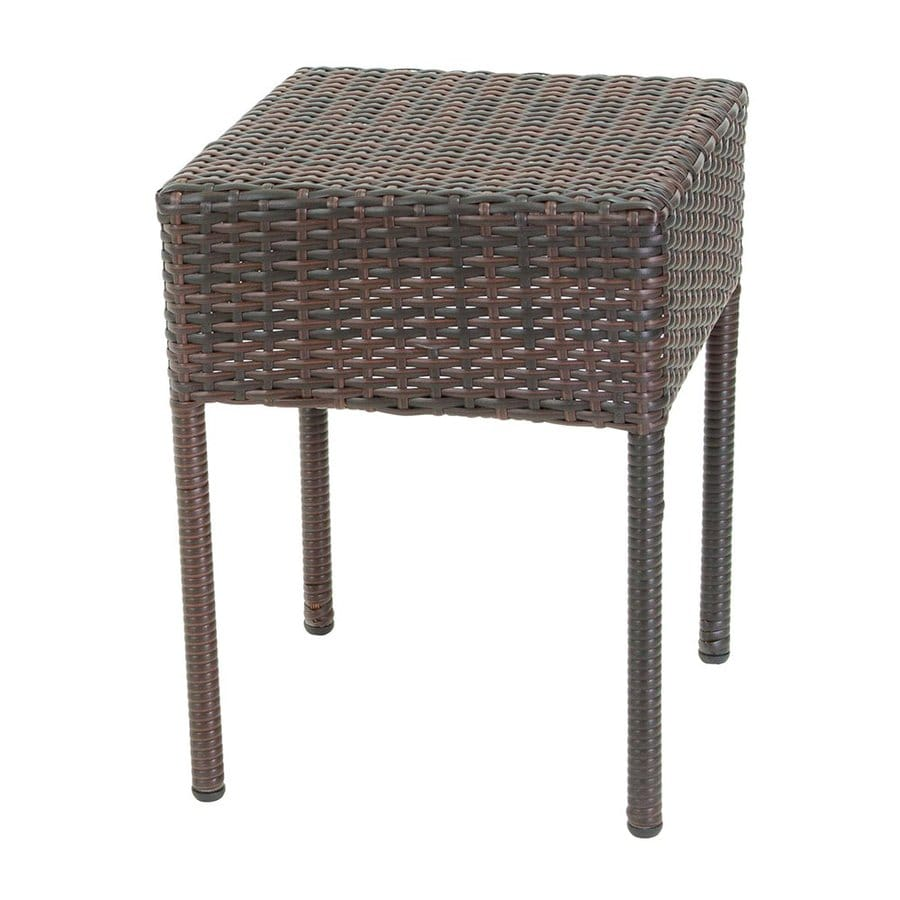 Best Selling Home Decor Sadie 15.75-in W x 15.75-in L Square Plastic End Table