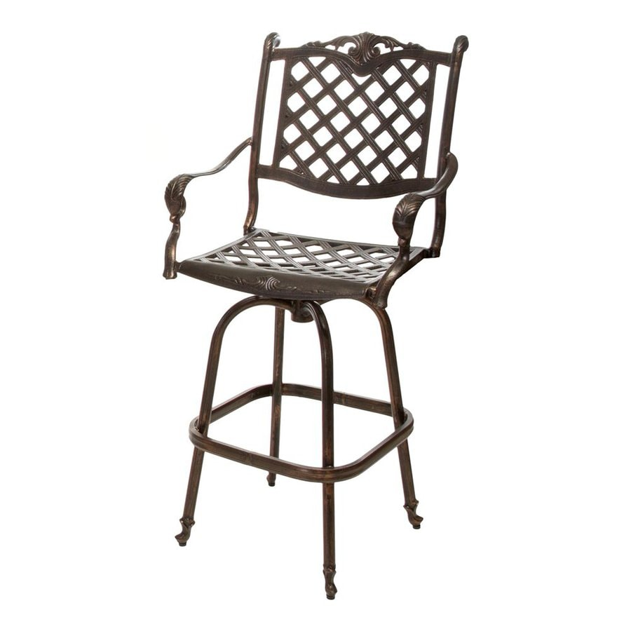 Best Selling Home Decor Avon Shiny Copper Aluminum Patio Barstool Chair