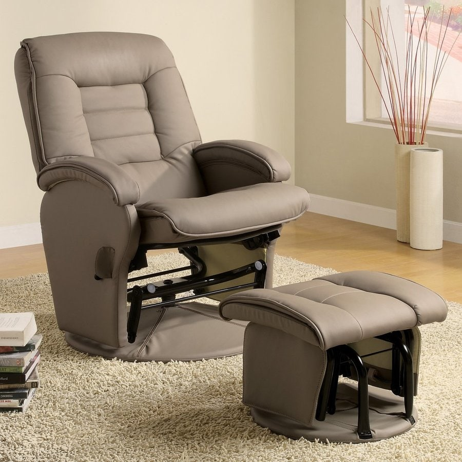 Coaster Fine Furniture Casual Beige Vinyl Glider Chair At