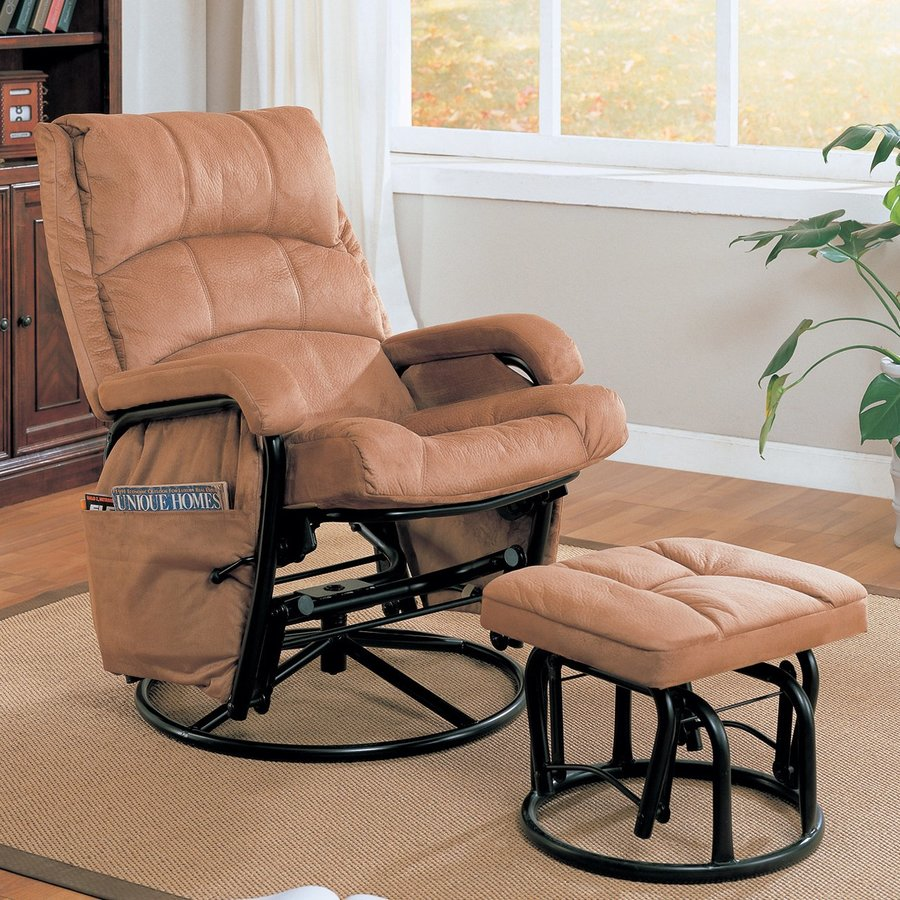 Coaster Fine Furniture Brown Glider Chair