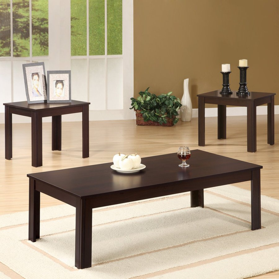 Coaster Fine Furniture 3 Piece Walnut Accent Table Set At