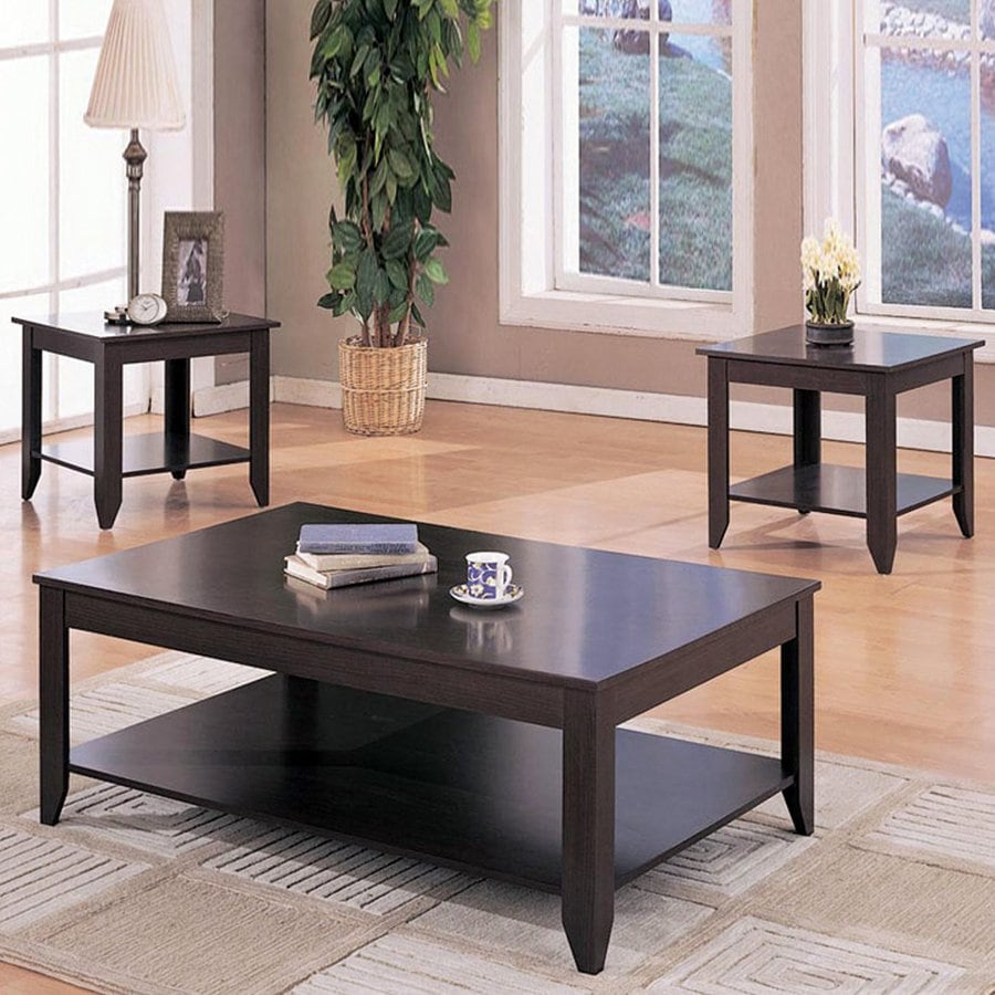 Coaster Fine Furniture 3 Piece Cappuccino Accent Table Set