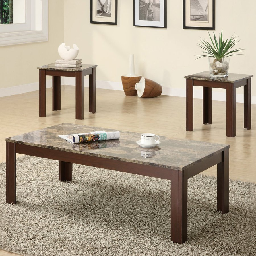 Coaster Fine Furniture 3-Piece Brown Accent Table Set
