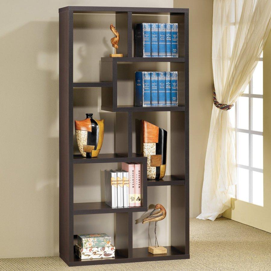 Coaster Fine Furniture Cappuccino 35-in W x 70.5-in H x 11.75-in D 8-Shelf Bookcase
