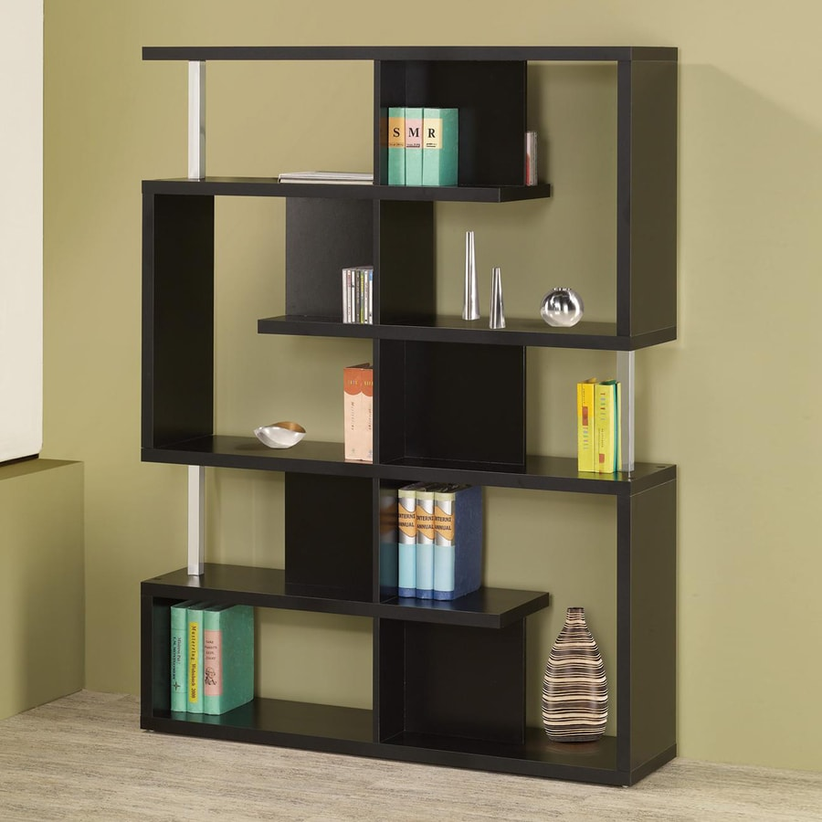 Coaster Fine Furniture Black 47.25-in W x 63-in H x 11.25-in D 10-Shelf Bookcase