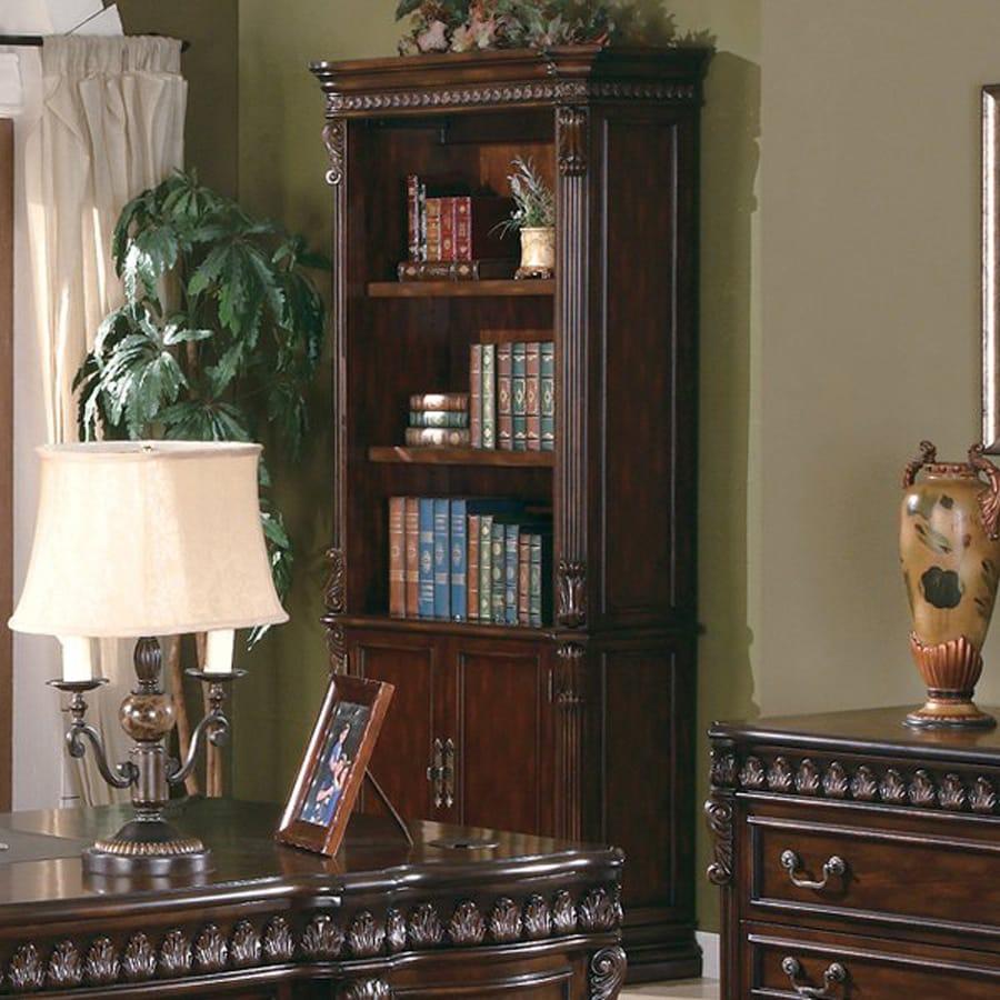 Coaster Fine Furniture Tucker Walnut 37-in W x 81-in H x 17-in D 4-Shelf Bookcase