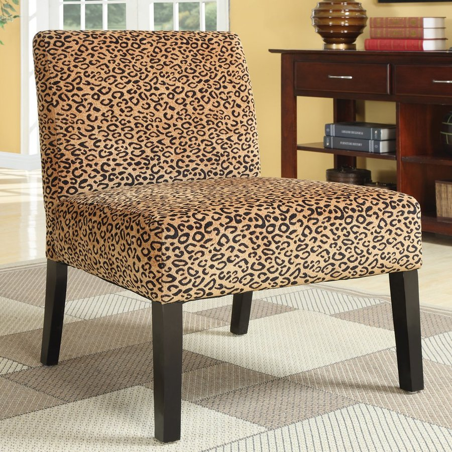 Coaster Fine Furniture Casual Gold/Leopard Accent Chair