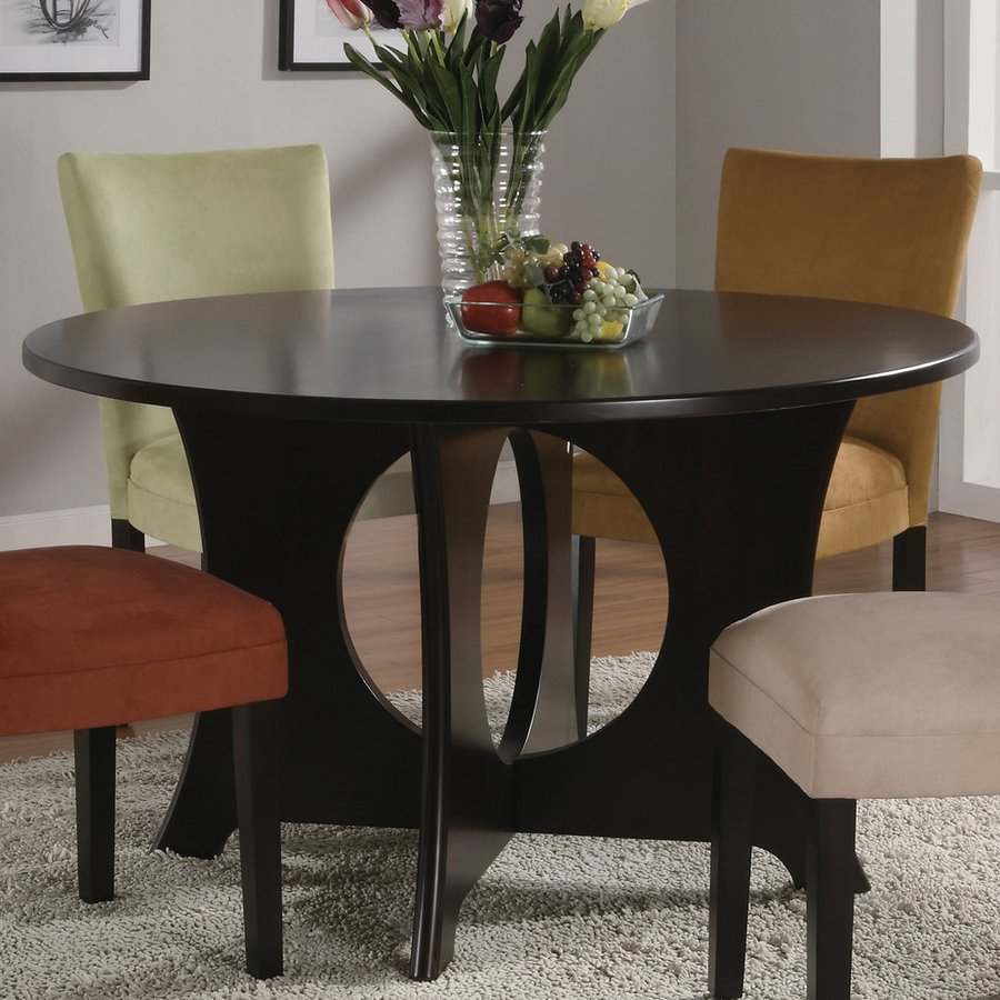 Coaster Fine Furniture Castana Wood Round Dining Table