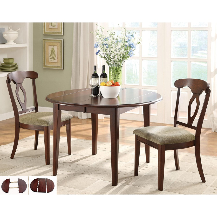 Fine Dining Table: Shop Coaster Fine Furniture Liam Cherry Round Dining Table