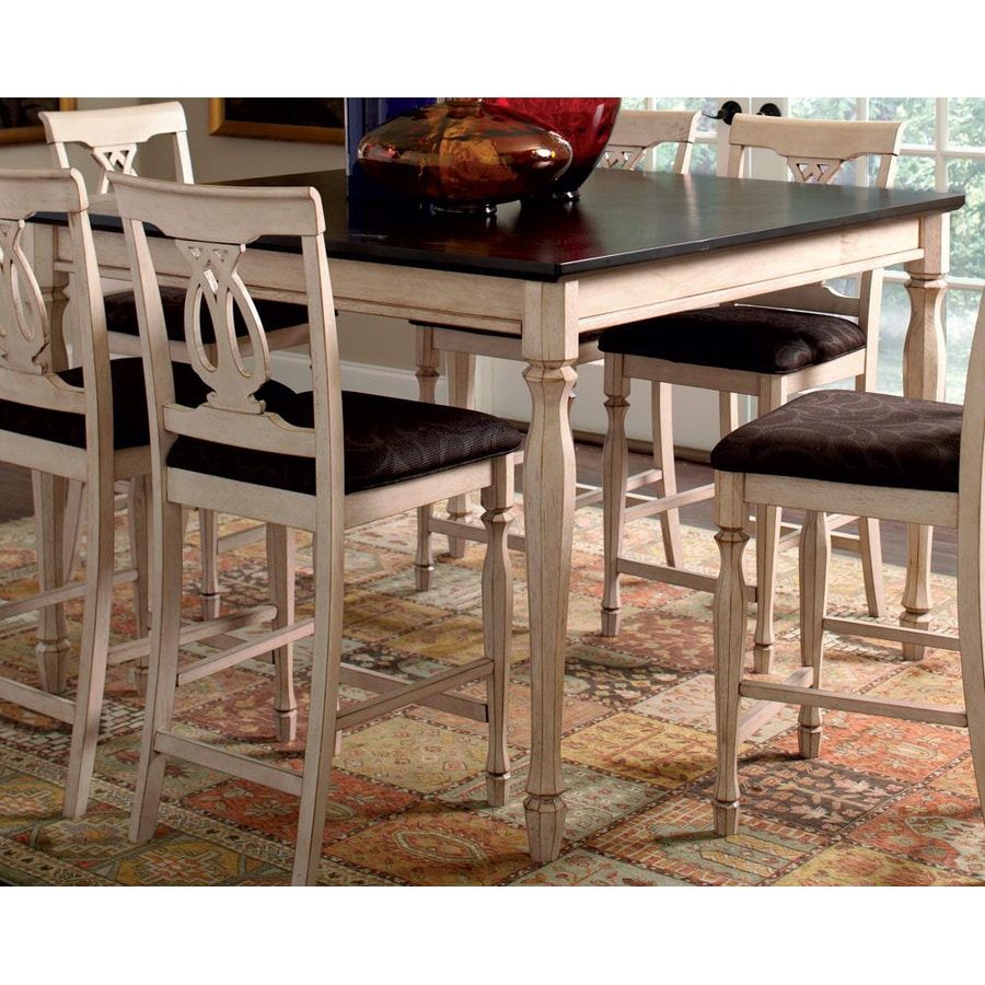 Coaster Fine Furniture Camille Antique White/Merlot Square Dining Table