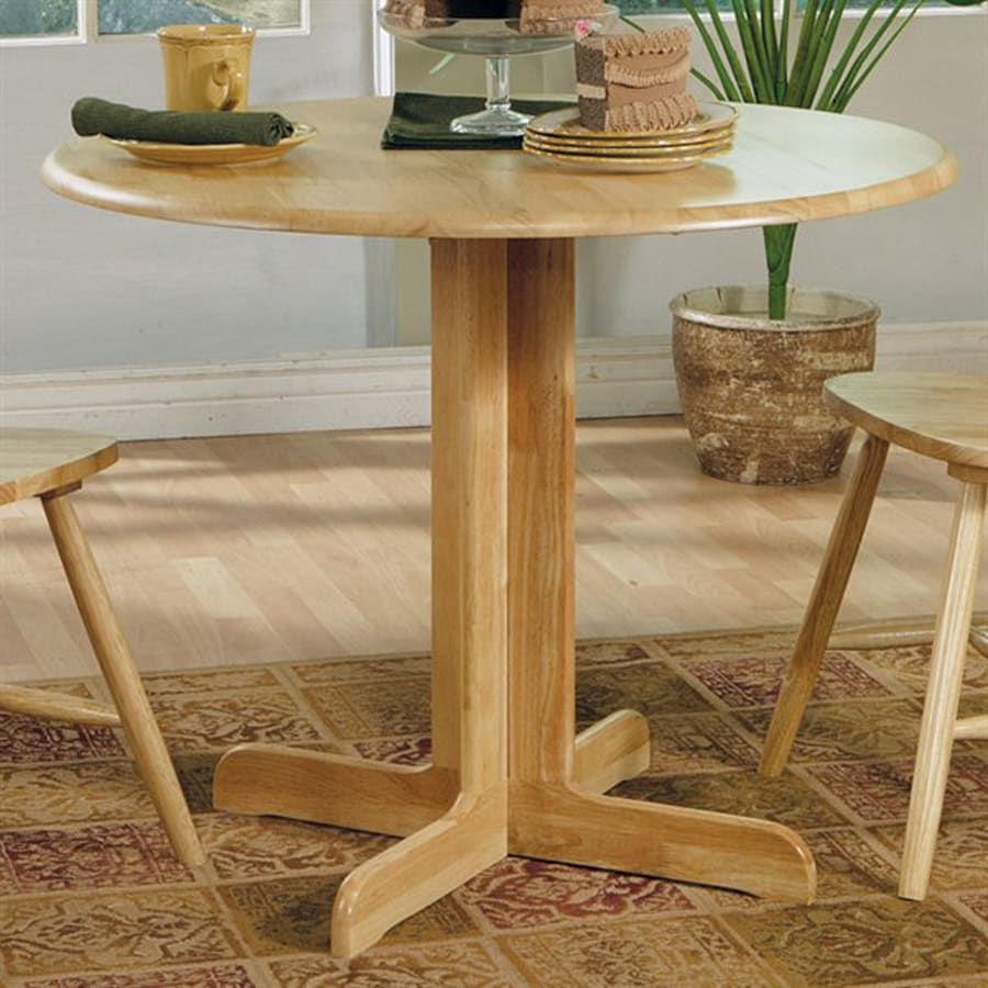 Coaster Fine Furniture Wood Round Extending Dining Table