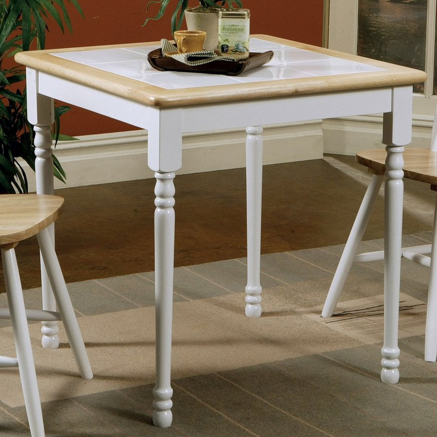 Fine Dining Table: Shop Coaster Fine Furniture Natural/White Square Dining
