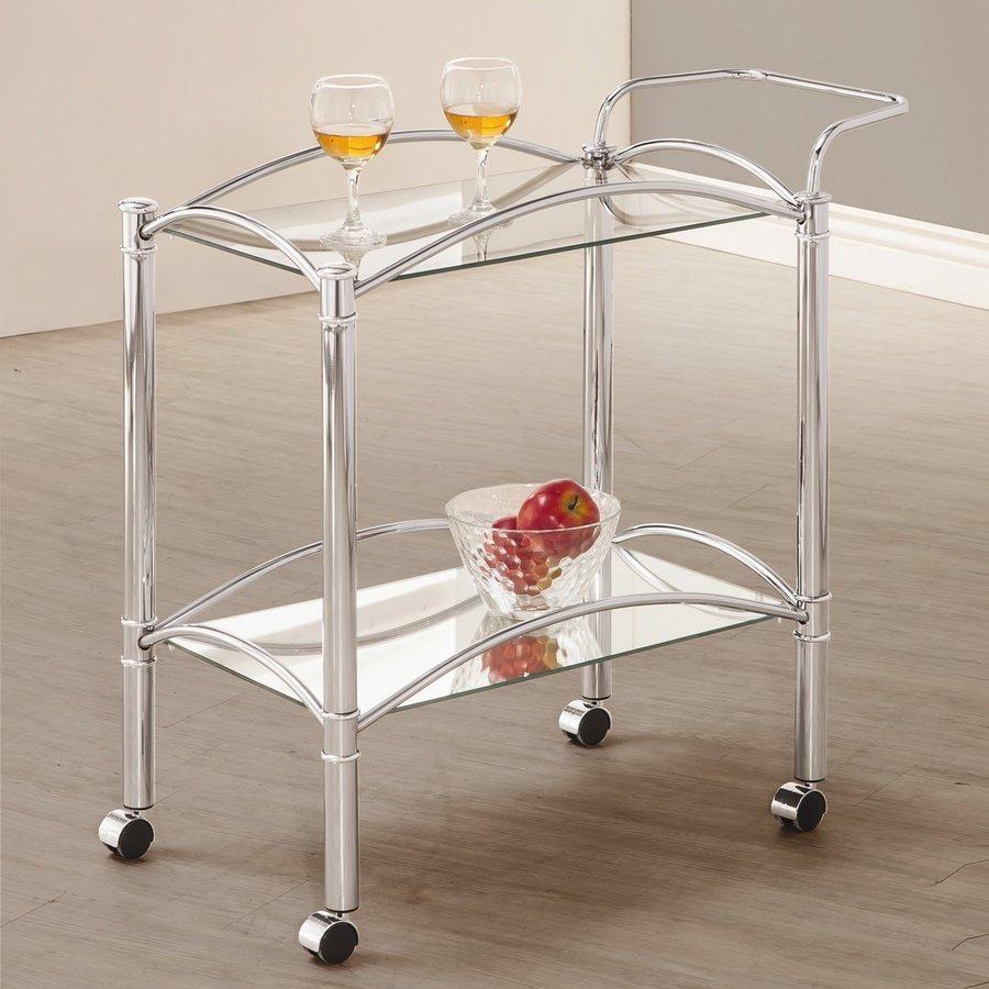 Coaster Fine Furniture Chrome Rectangular Kitchen Cart