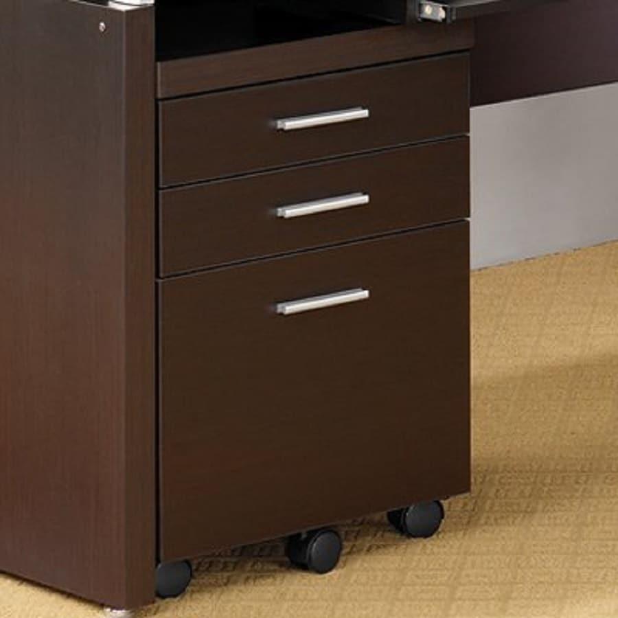 Coaster Fine Furniture Cappuccino 3-Drawer File Cabinet