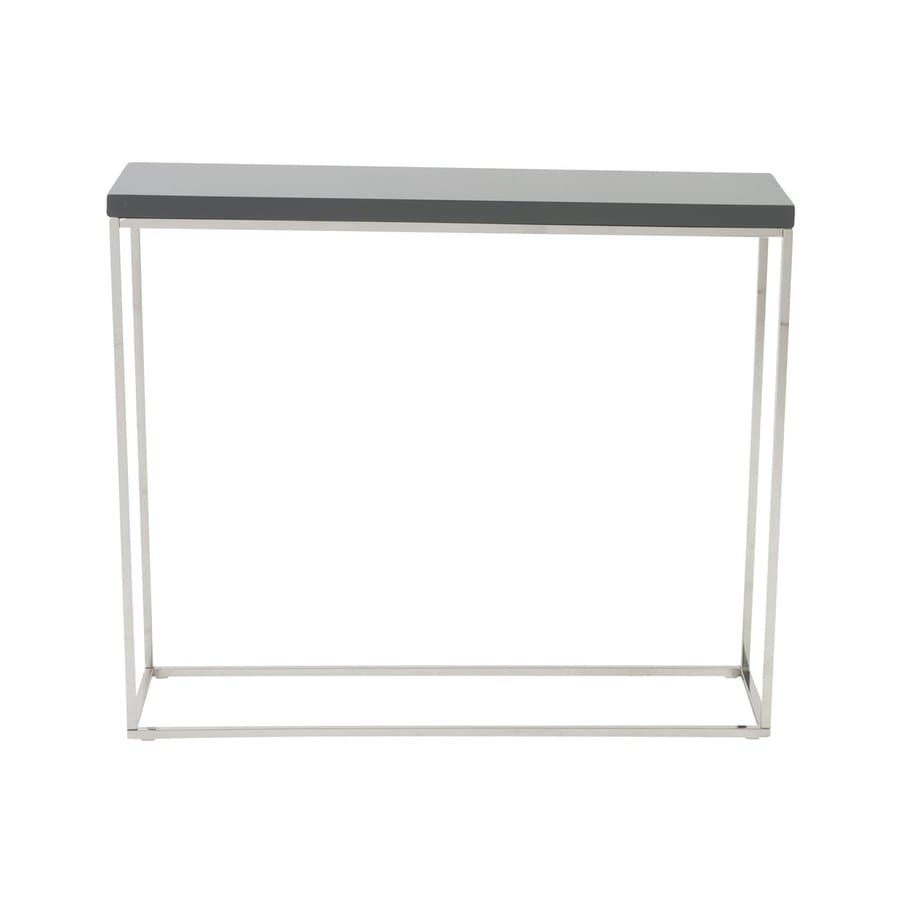 Eurostyle Teresa High Gloss Gray Rectangular Console Table