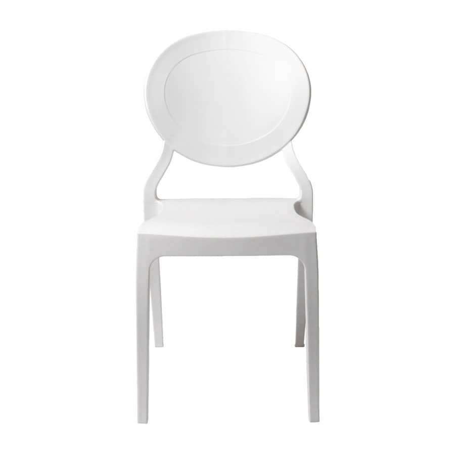 Eurostyle Set of 2 Vassaka White Stackable Side Chairs