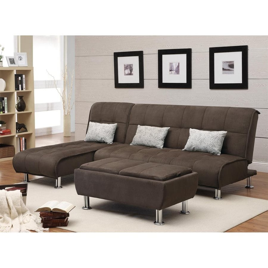 coaster fine furniture brown microfiber sectional