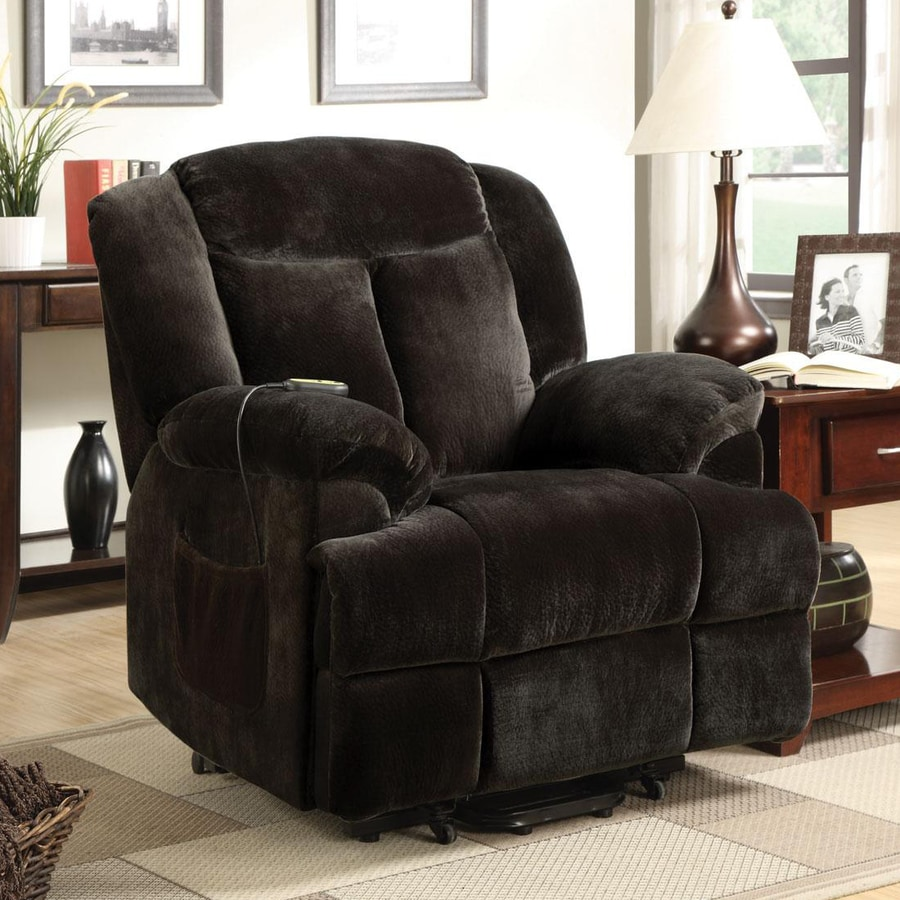 Coaster Fine Furniture Chocolate Velvet Powered Reclining Recliner