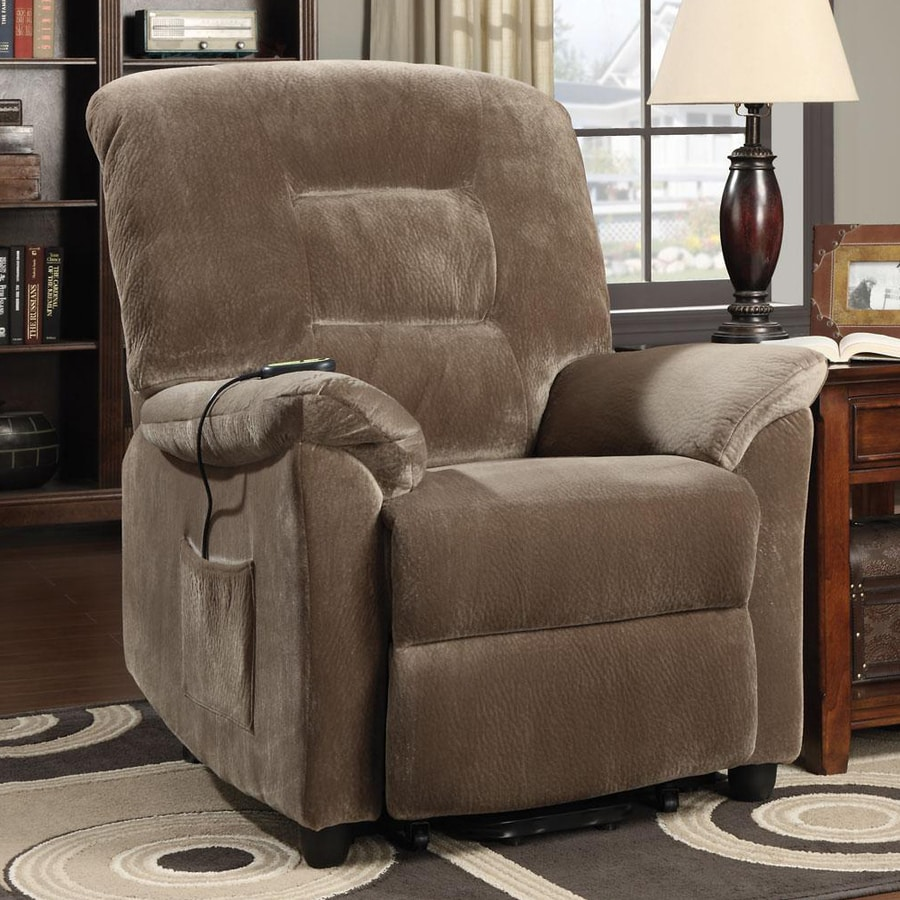 Coaster Fine Furniture Brown Sugar Velvet Powered Recliner