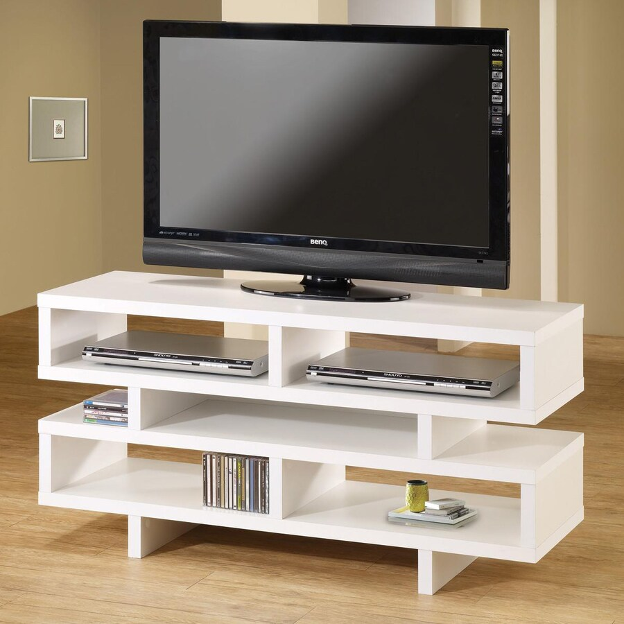 Coaster Fine Furniture White Rectangular TV Cabinet