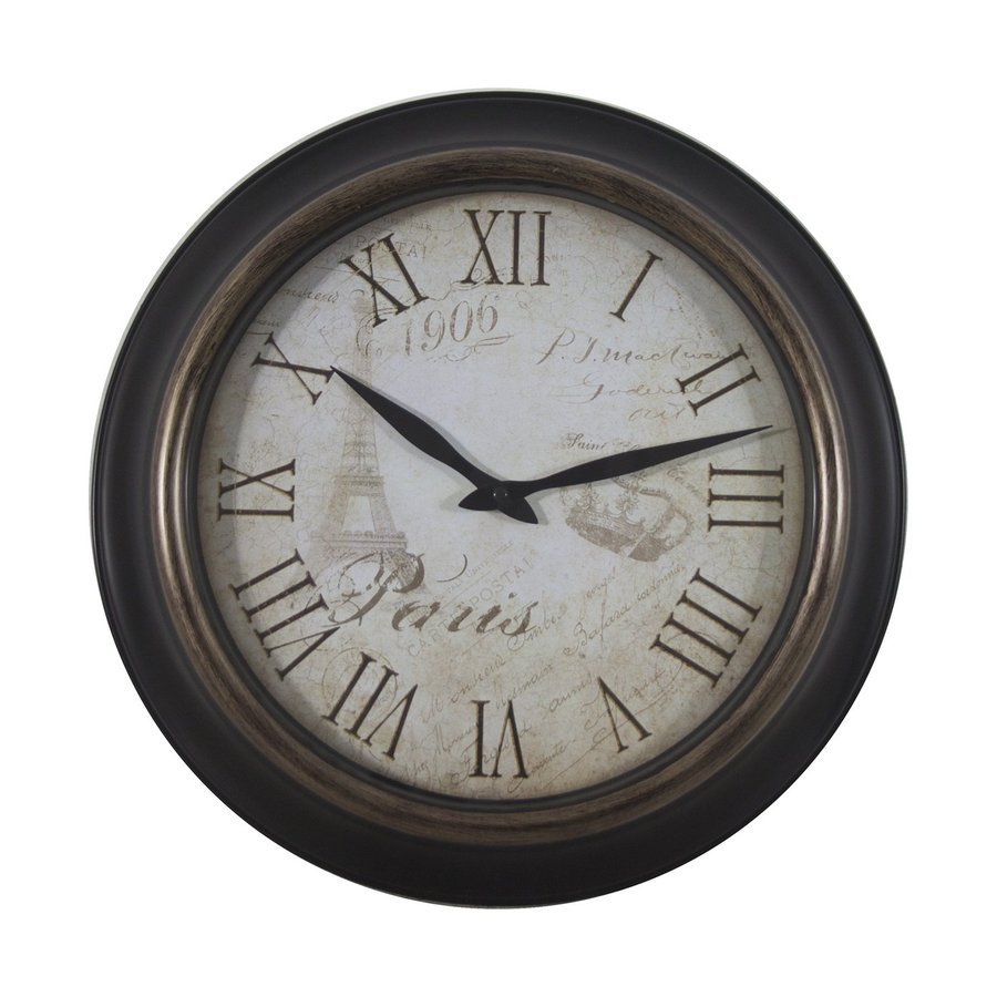 Dcor Therapy Paris Analog Round Indoor Wall Clock