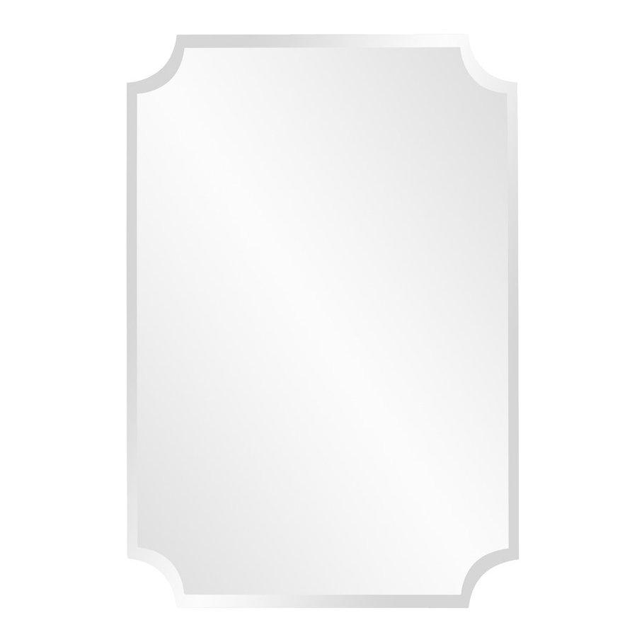 Howard Elliott Scalloped 24 In X 36 Beveled Rectangle Frameless Wall Mirror
