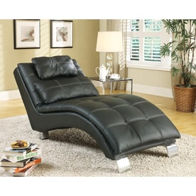 Coaster Fine Furniture Modern Vinyl Chaise Lounges