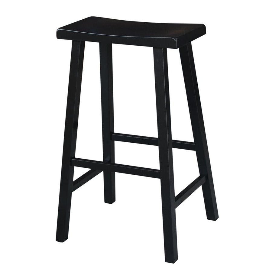 International Concepts Black 29-in Bar Stool