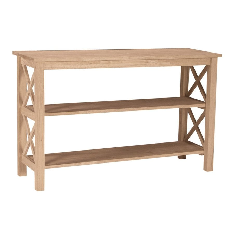 International Concepts Hampton Rubberwood Rectangular Sofa Table