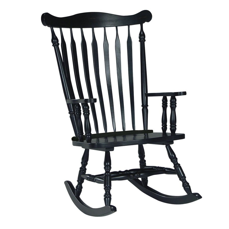 International Concepts Antique Black Rocking Chair