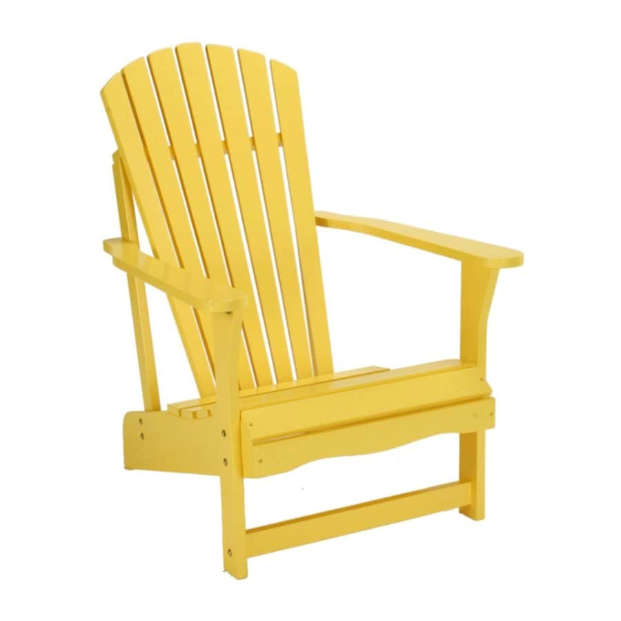 International Concepts Yellow Acacia Patio Adirondack Chair