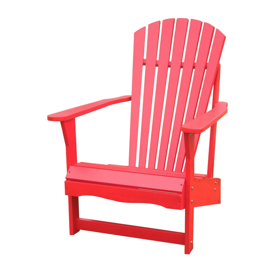 International Concepts Red Acacia Patio Adirondack Chair