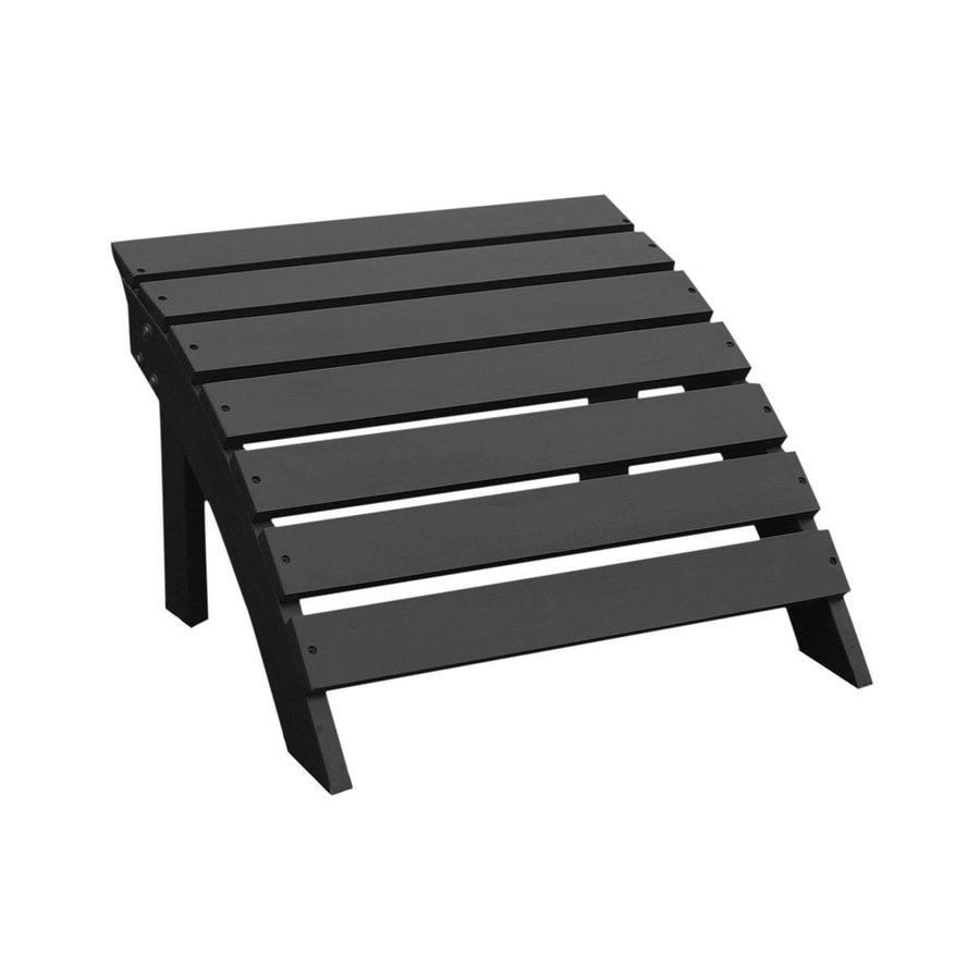 International Concepts Black Acacia Wood Foot Stool