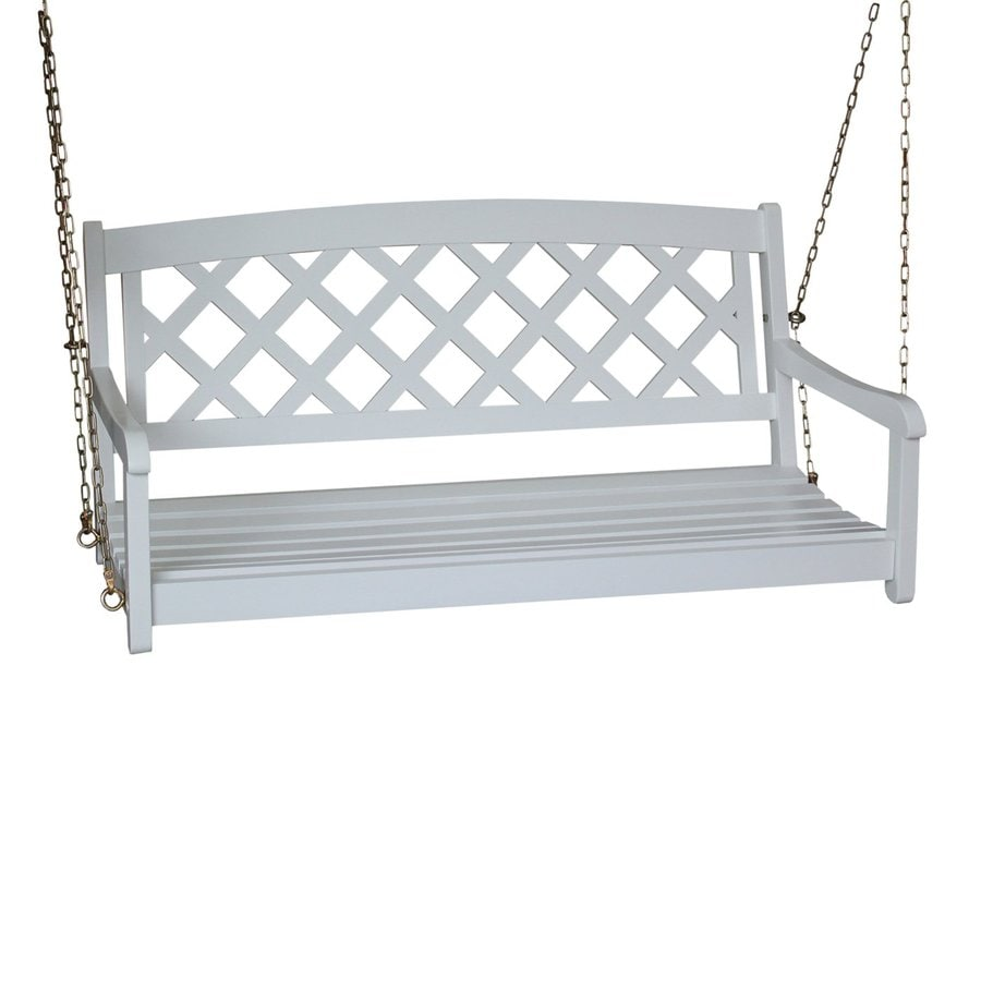 Shop International Concepts White Porch Swing At Lowes Com