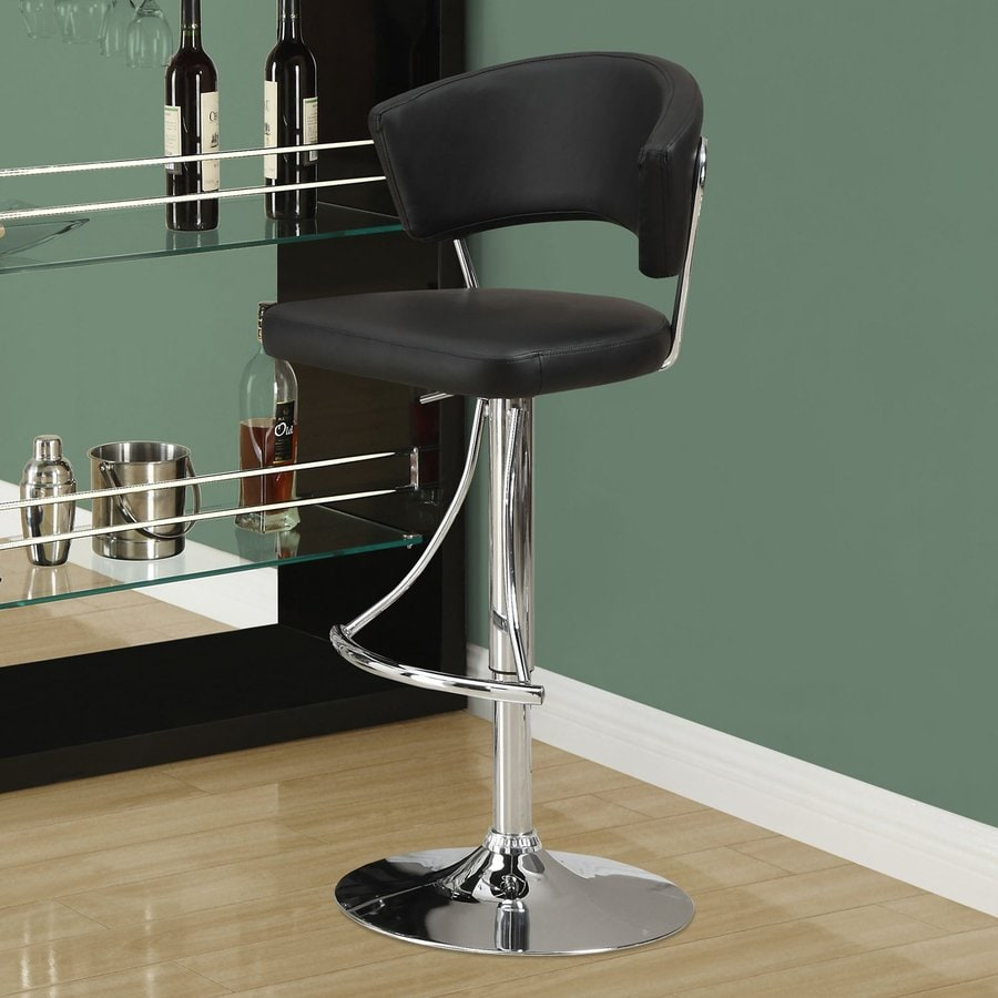 Monarch Specialties Black 28-in Adjustable Stool