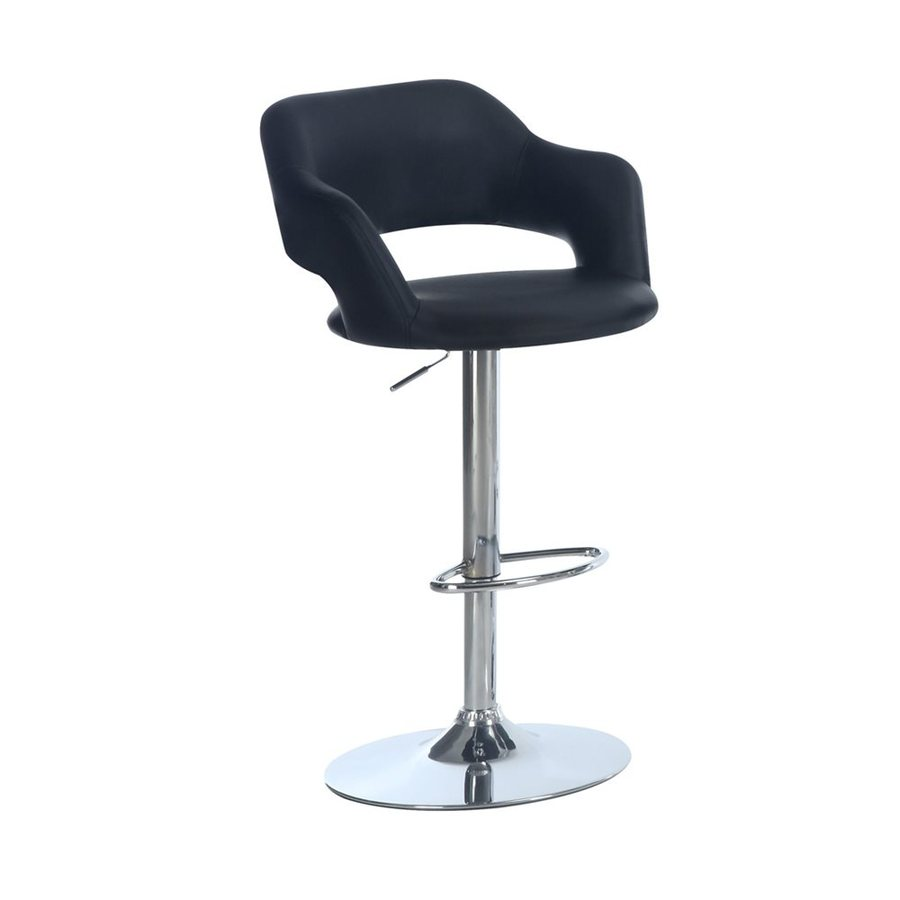 Monarch Specialties Black 30-in Adjustable Stool