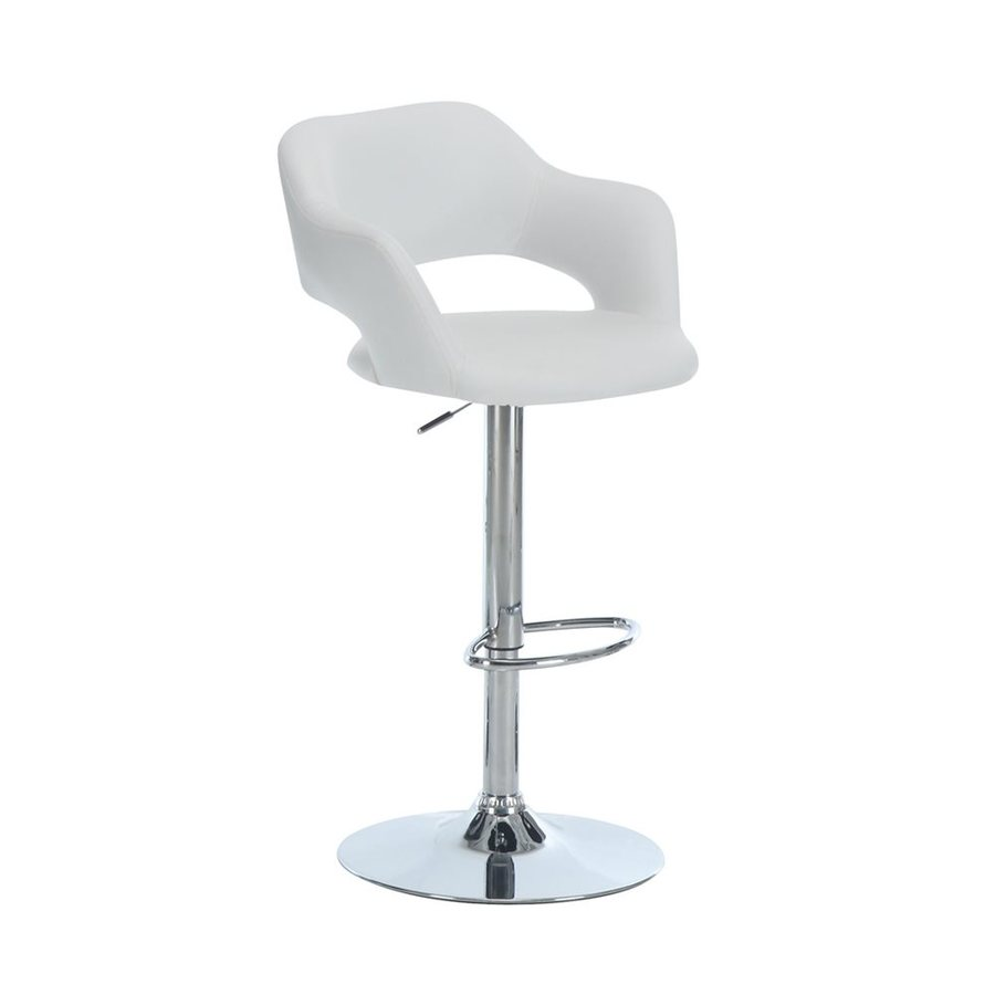 Monarch Specialties White Adjustable Stool