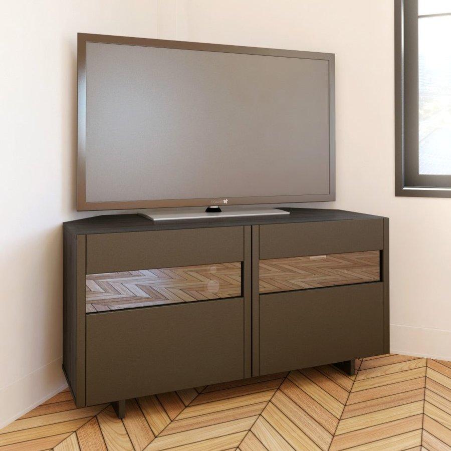 Nexera Nuance Espresso/Ebony Corner TV Stand