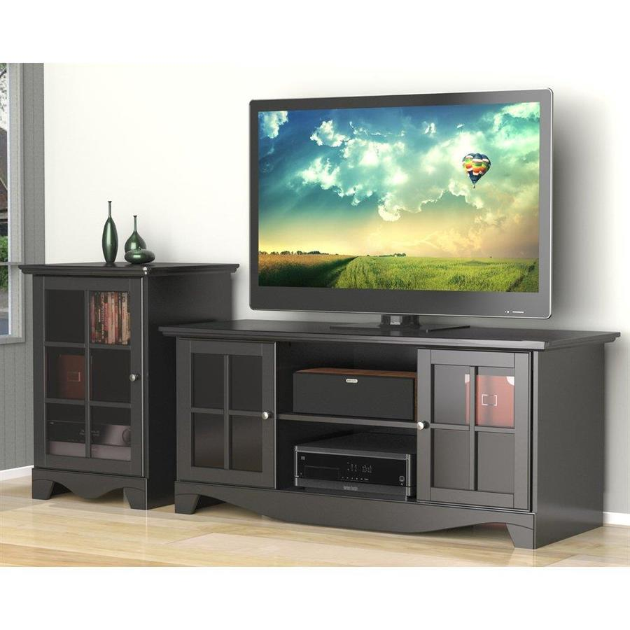 Nexera Pinnacle Black Rectangular TV Cabinet Set