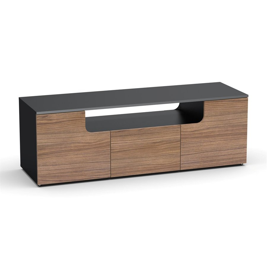 Nexera Next Walnut/Black Rectangular TV Cabinet