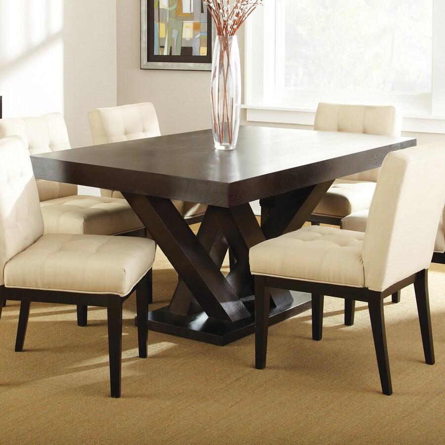 Cherry Dining Table: Steve Silver Company Tiffany Dark Espresso Cherry