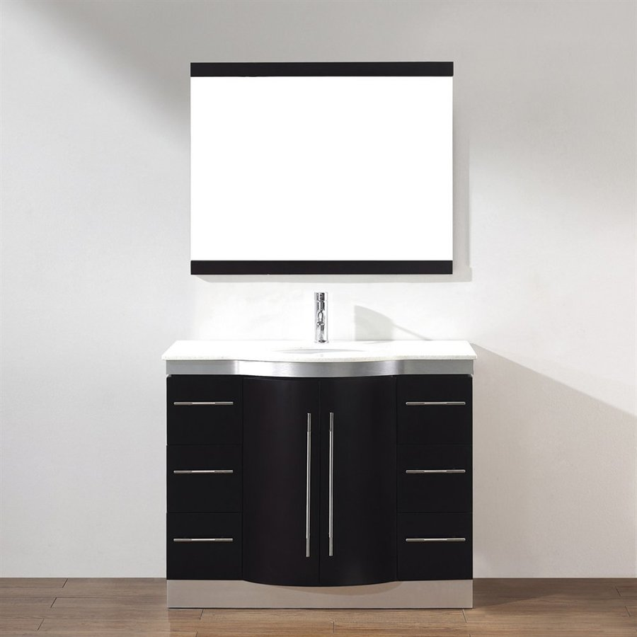 Spa Bathe Delucia Chai Undermount Single Sink Bathroom Vanity with Quartz Top (Common: 42-in x 22-in; Actual: 42-in x 22-in)