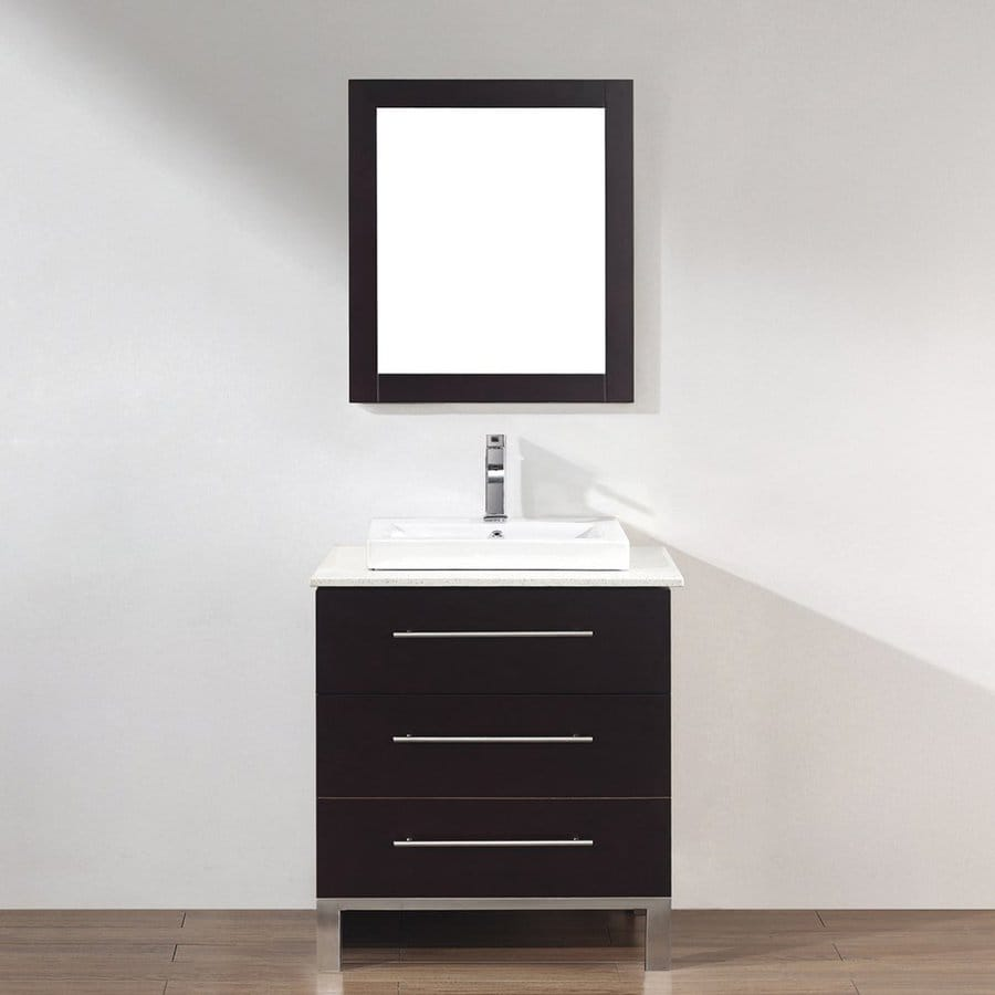 Spa Bathe Grada Chai Drop-in Single Sink Bathroom Vanity with Quartz Top (Common: 28-in x 22-in; Actual: 28-in x 22-in)