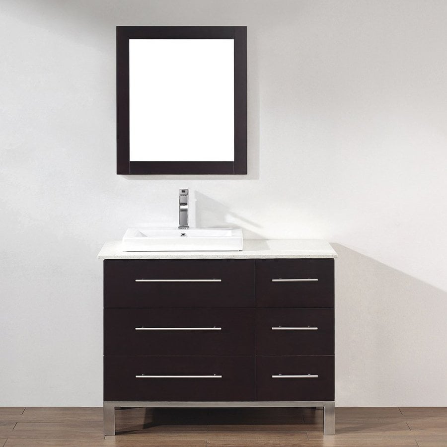 Spa Bathe Grada Chai 42-in Drop-in Single Sink Bathroom Vanity with Quartz Top (Mirror Included)