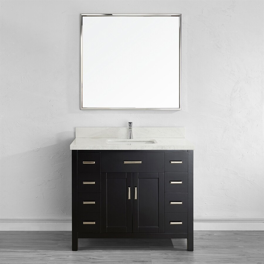 42 Single Sink Bathroom Vanity shop spa bathe kenzie espresso undermount single sink bathroom