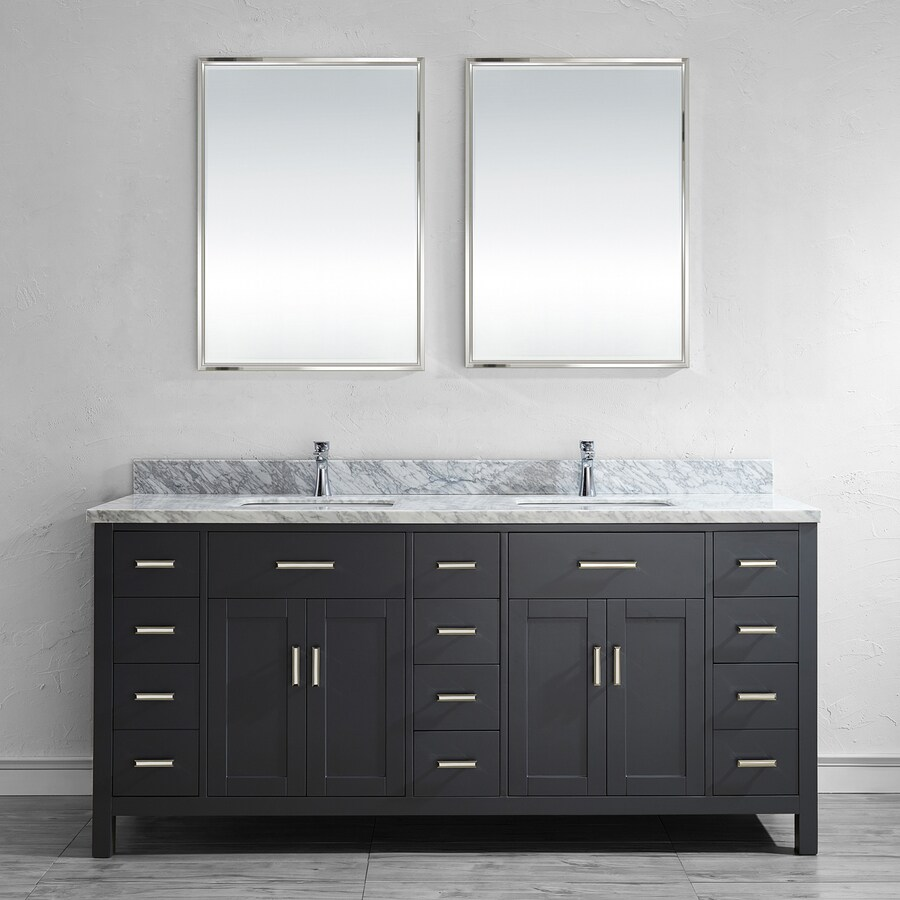 Shop Spa Bathe Kenzie 75 In French Gray Undermount Double Sink Bathroom Vanit
