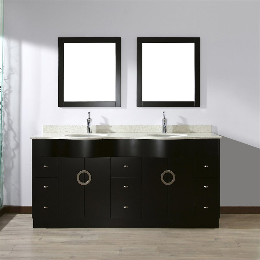 Spa Bathe Zuna Espresso Double Sink Vanity With Nougat