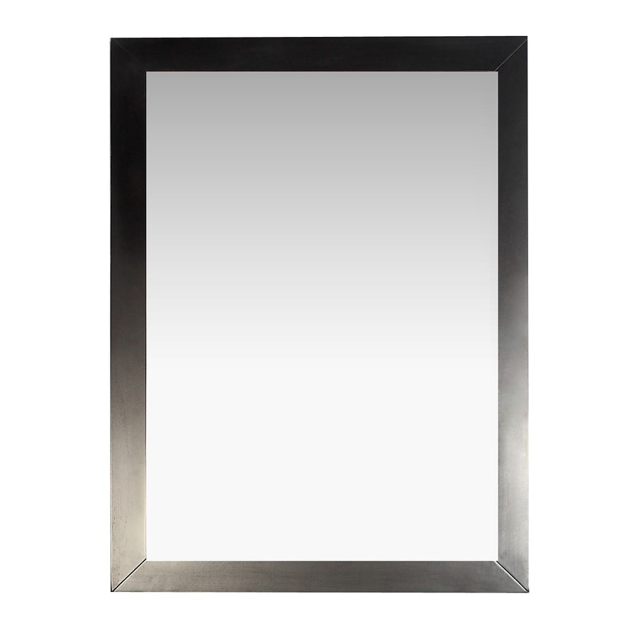 Simpli Home Burnaby 22-in W x 30-in H Davenport Espresso Rectangular Bathroom Mirror