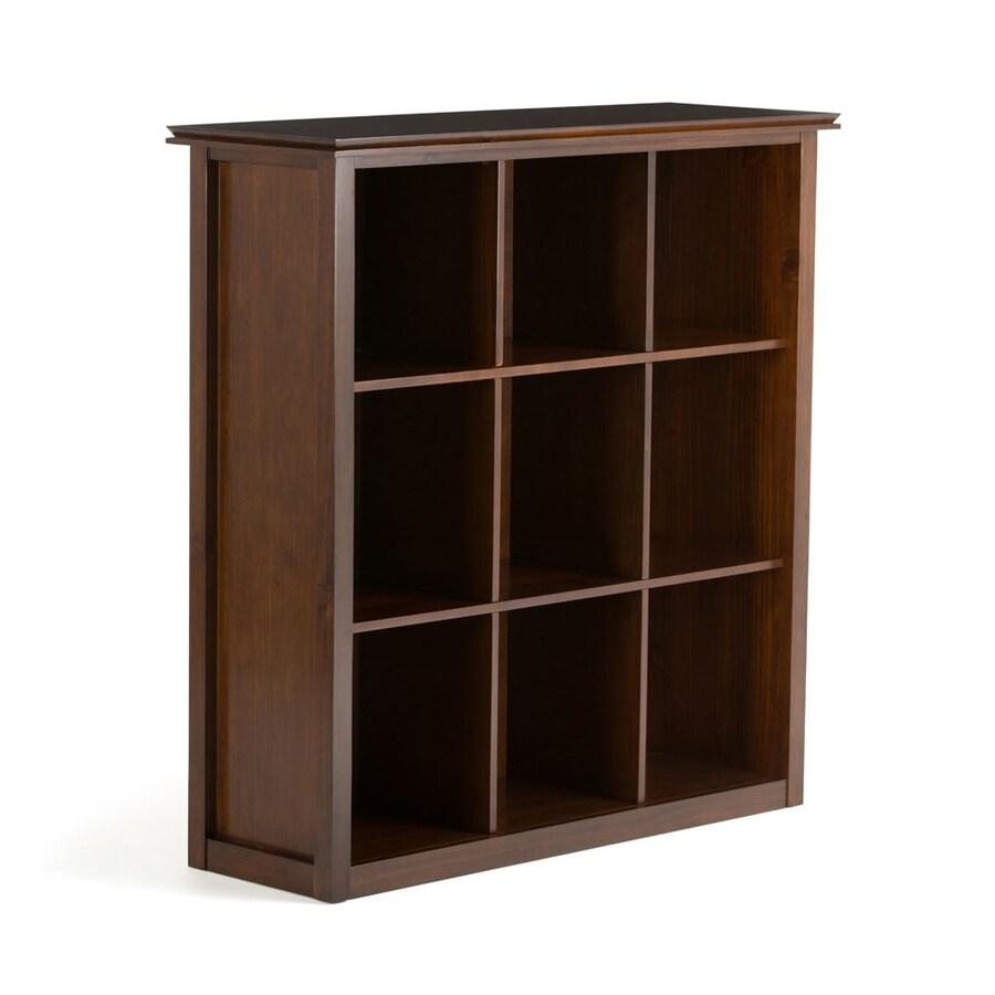 Simpli Home Artisan Medium Auburn Brown Bookcase